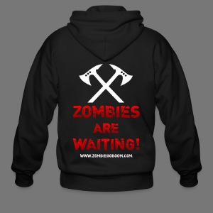 Zombies are Waiting Hoodie - Men's Zip Hoodie