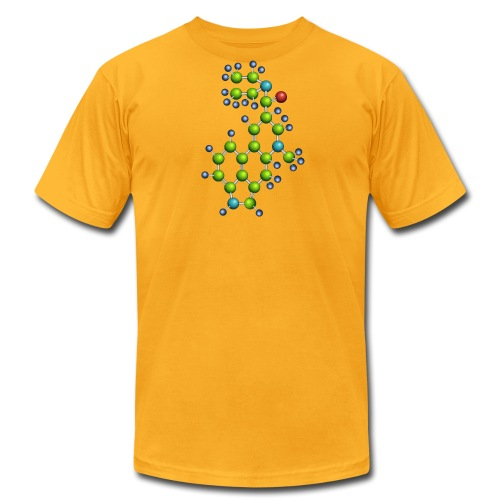 lsd molecule shirt - american apparel - Men's T-Shirt by American Apparel