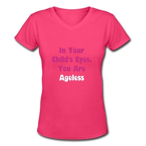 Pink Ageless T-Shirt - Women's V-Neck T-Shirt