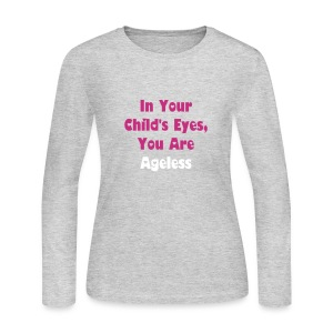 Grey Long Sleeve Ageless - Women's Long Sleeve Jersey T-Shirt
