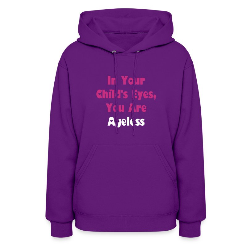 Purple Hooded Sweatshirt Ageless - Women's Hoodie