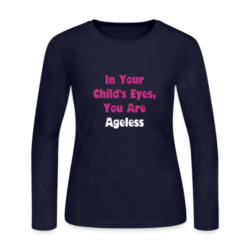 Black Long Sleeve Ageless - Women's Long Sleeve Jersey T-Shirt