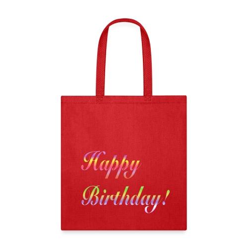 Happy Birthday Reusable Gift  Bag - Tote Bag