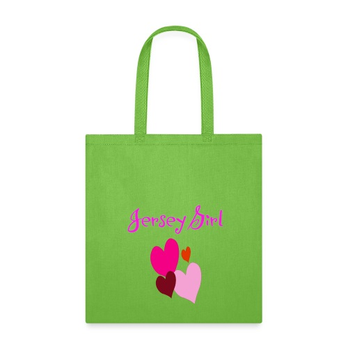 Jersey Girl Hearts Bag - Tote Bag