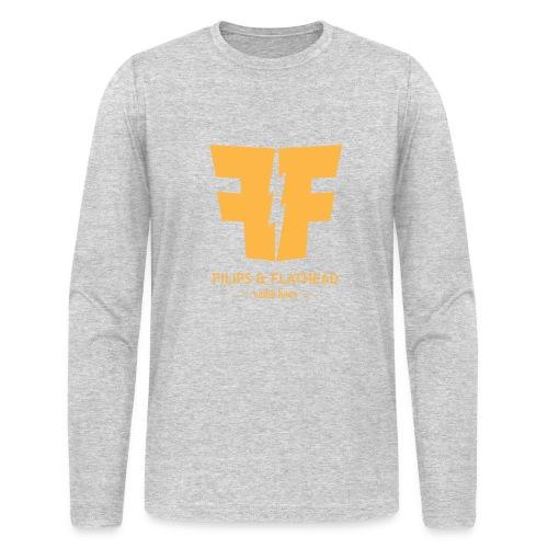 Long Sleeve Gold Logo - Men's Long Sleeve T-Shirt by Next Level