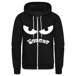 Menace Logo Face Hoodie - Unisex Fleece Zip Hoodie by American Apparel
