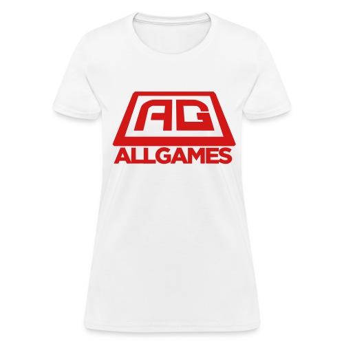 All Games Logo Red (Womens) - Women's T-Shirt