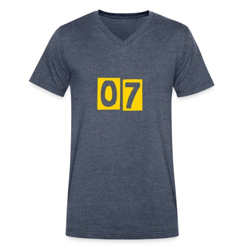 No 7 T-Shirts - Men's V-Neck T-Shirt by Canvas