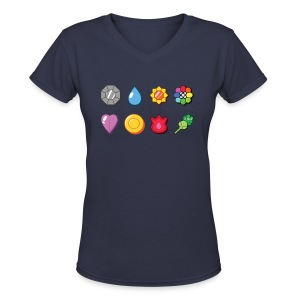 Women's Badges V-Neck - Women's V-Neck T-Shirt
