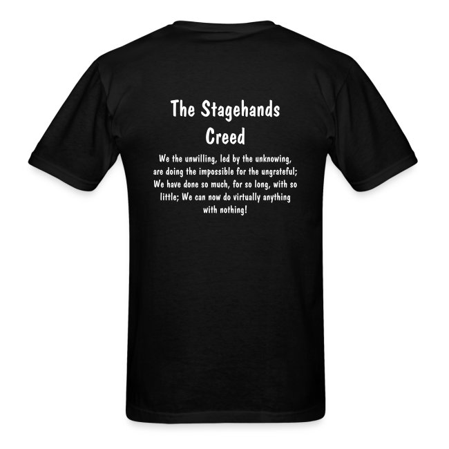 Stagehands Creed (back)