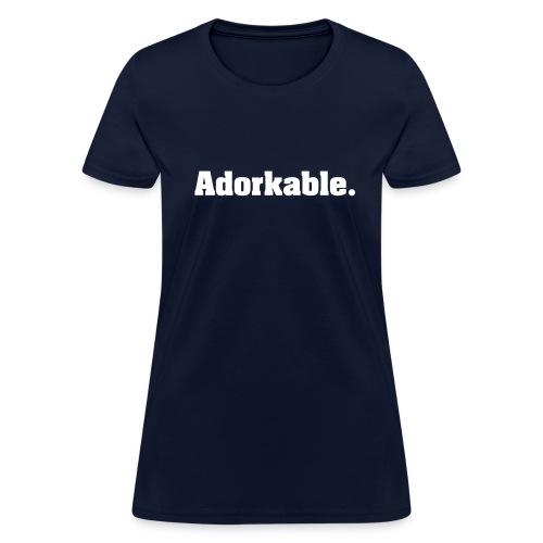 Women's Adorkable (White Print) T-Shirt - Women's T-Shirt
