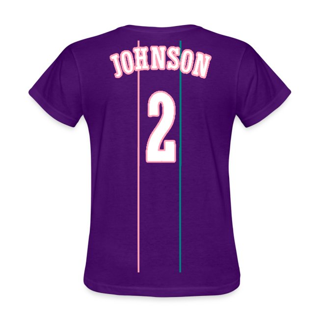 reputable site 8f747 c7ecf LARRY JOHNSON THROWBACK LADY T   Women's T-Shirt