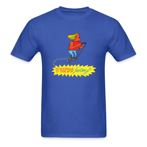 Turbo Fantasy - Turbo flying above logo - Men's T-Shirt