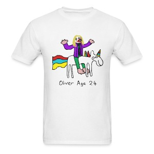Oliver Age 24 - Joker On A Unicorn - Men's T-Shirt