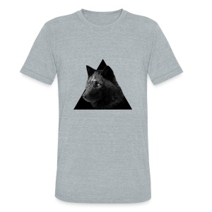 Unisex Tri-Blend T-Shirt by American Apparel - wolf,triangle,pyramid
