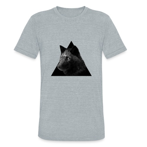 Unisex Tri-Blend T-Shirt - wolf,triangle,pyramid