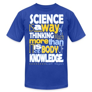 Carl Sagan - Science - Men's T-Shirt by American Apparel