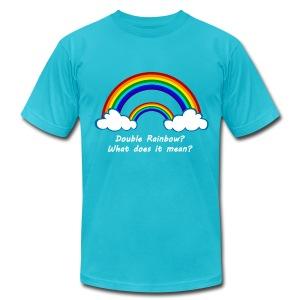 Double Rainbow - Men's Fine Jersey T-Shirt