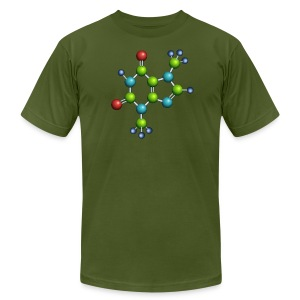 theobromine molecule shirt - american apparel - Men's T-Shirt by American Apparel