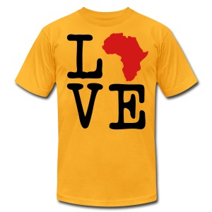 I Love Africa, I Heart Africa - Men's T-Shirt by American Apparel