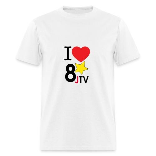 I Love 8JTV Men's Shirt (Multi-Color) - Men's T-Shirt