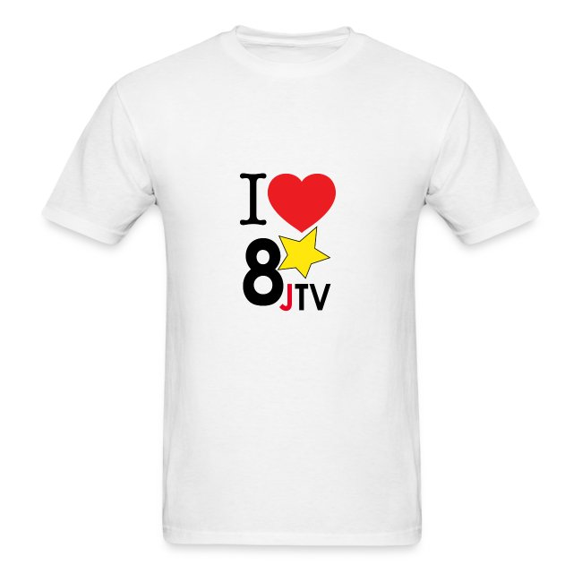 I Love 8JTV Men's Shirt (Multi-Color)