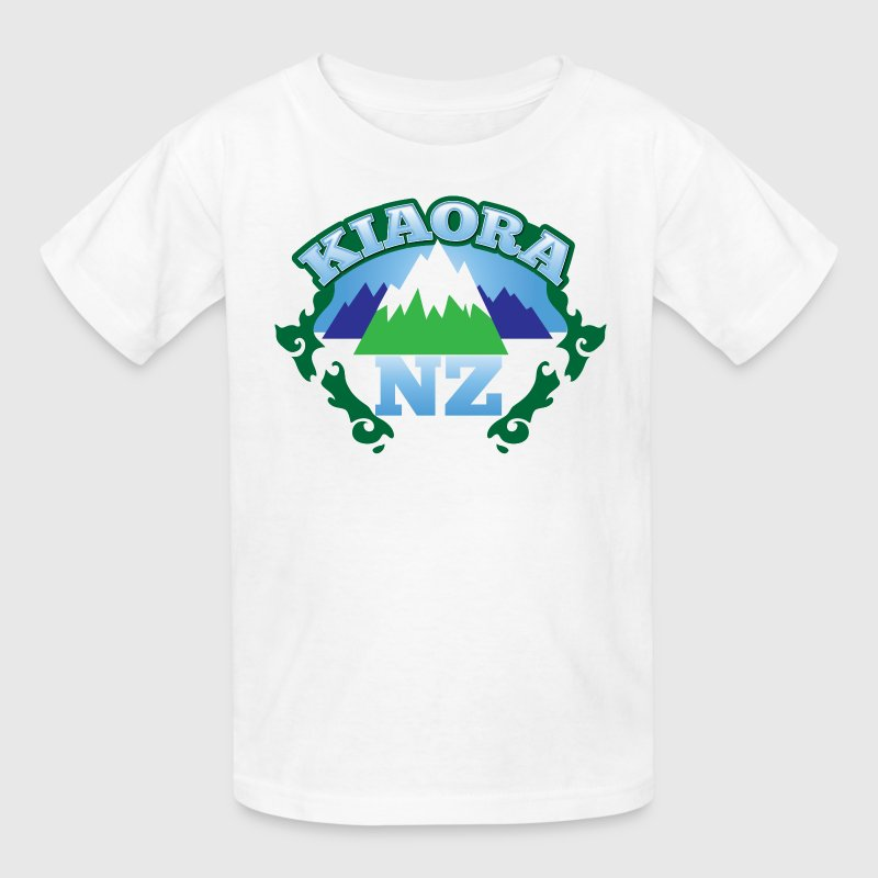 kiaora new ZEALAND NZ with mountains Kids' Shirts - Kids' T-Shirt
