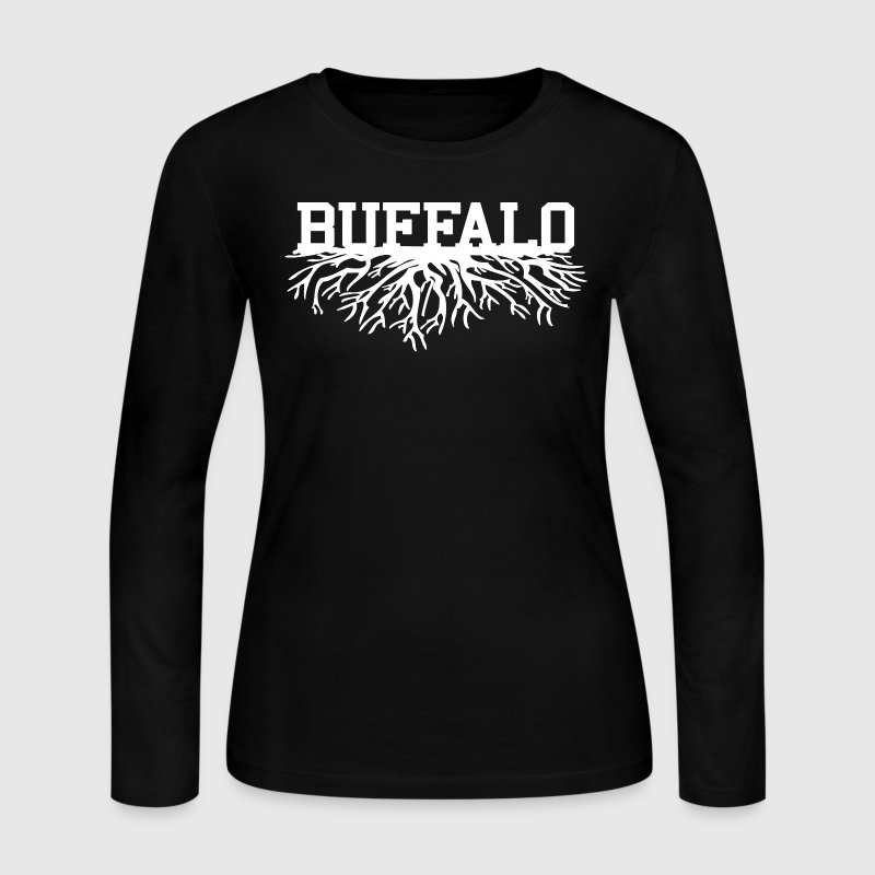 Buffalo Roots Buffalo New York Long Sleeve Shirts - Women's Long Sleeve Jersey T-Shirt