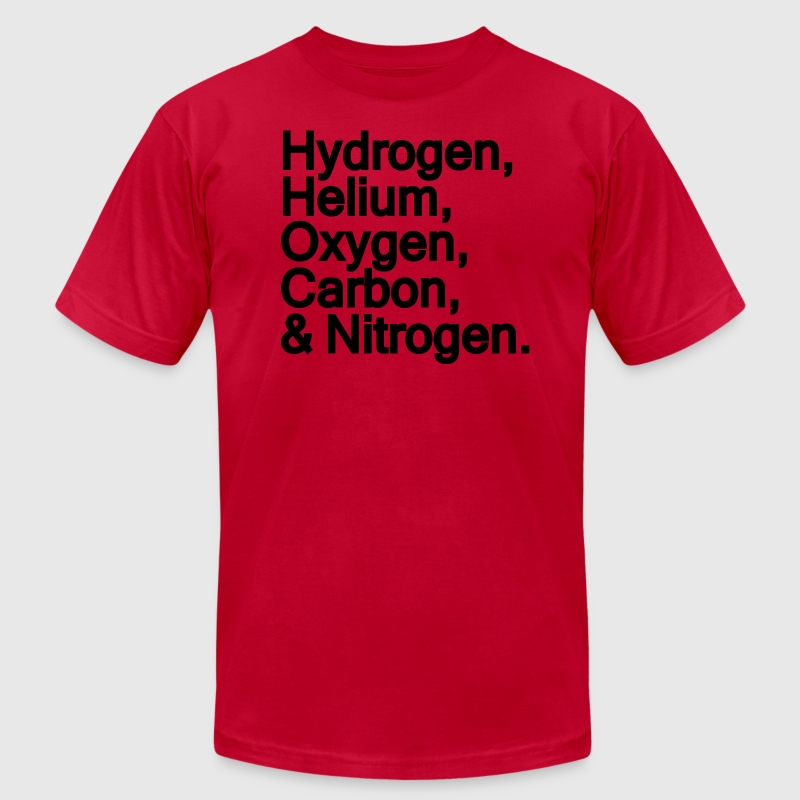 Ingredients for the Universe  - Men's T-Shirt by American Apparel