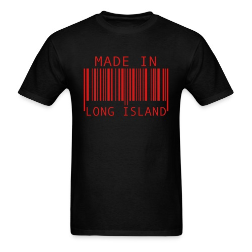 Made In LongIsland Red Text - Men's T-Shirt