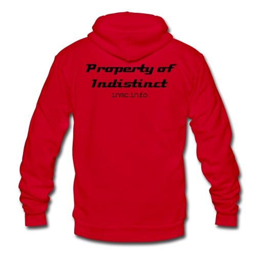 Poperty of Indistinct - Unisex Fleece Zip Hoodie