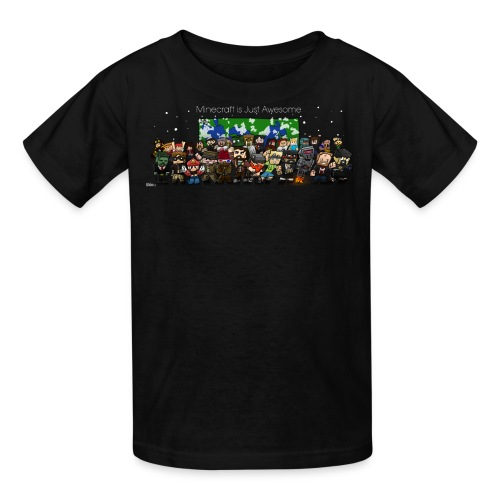 Minecraft is Just awesome - Kids T-Shirt (With FinsGraphics Logo) - Kids' T-Shirt