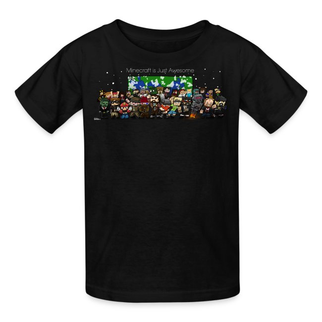 Minecraft is Just awesome - Kids T-Shirt (With FinsGraphics Logo)