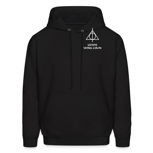 LWC Black Hoodie with Logo - Men's Hoodie
