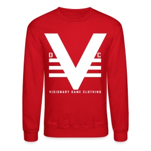 Red/White Visionary Dame Original Crewneck - Crewneck Sweatshirt