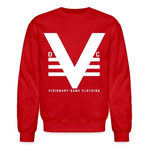 Red/White Visionary Dame Original Crewneck - Crewneck Sweatshirt
