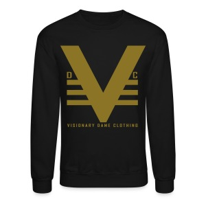 Black/Shiny Gold Visionary Dame Original Crewneck - Crewneck Sweatshirt