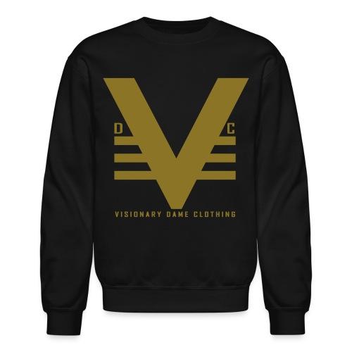 Black/Shiny Gold Visionary Dame Original Crewneck - Crewneck Sweatshirt