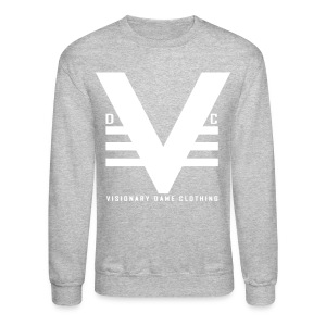 Grey/White Visionary Dame Original Crewneck - Crewneck Sweatshirt