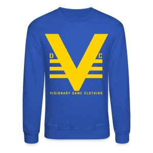 Royal/Yellow Visionary Dame Original Crewneck - Crewneck Sweatshirt