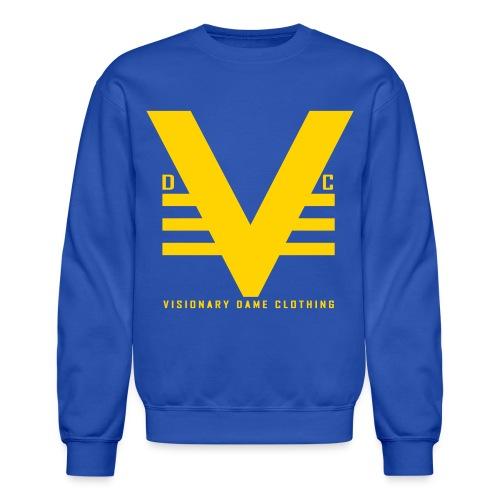 Royal/Yellow Visionary Dame Original Crewneck - Crewneck Sweatshirt