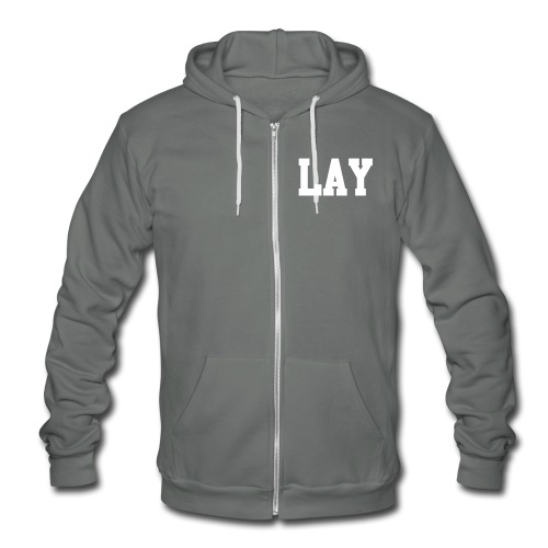 Lay Wolf Team Double Sided - Unisex Fleece Zip Hoodie by American Apparel
