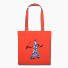 T'aime Paris Tote Bag