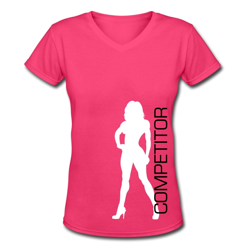 Bikini Competitor Shirt 1 - Women's V-Neck T-Shirt