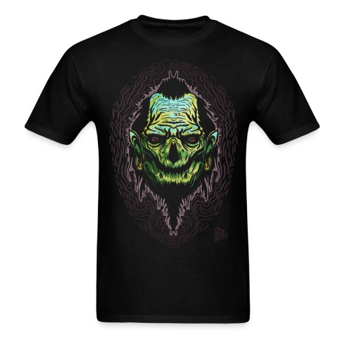Big J Zombie Shrunken head tiki Men's T Shirt - Men's T-Shirt