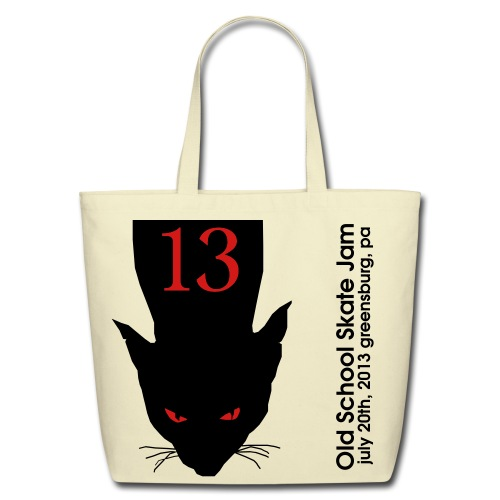 2013 Skate Jam Cat in a Bag - Eco-Friendly Cotton Tote