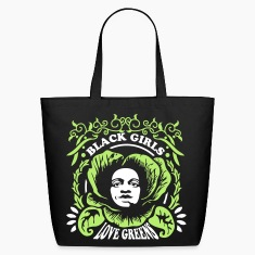 Black Girls Love Greens Tote (2 color)