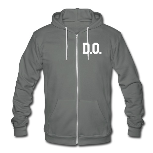 D.O. Wolf Team Double Sided - Unisex Fleece Zip Hoodie by American Apparel