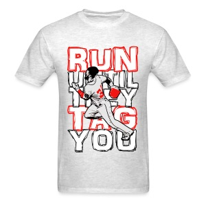 RUN TAG - Men's Regular T White Letters - Men's T-Shirt