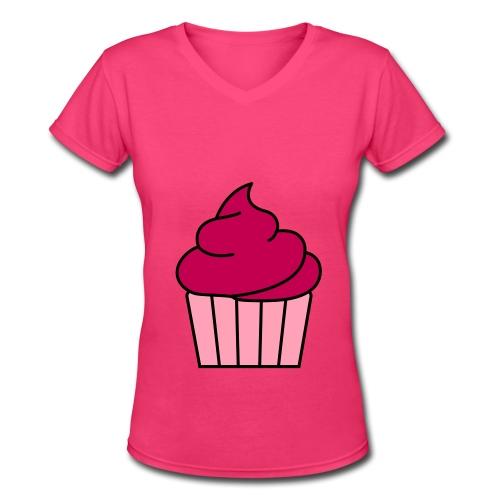 Cupcake T - shirt - Women's V-Neck T-Shirt